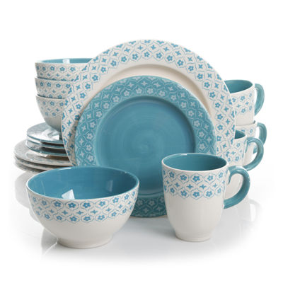 Gibson General Store 16-pc. Cottage Chic Ceramic Dinnerware Set