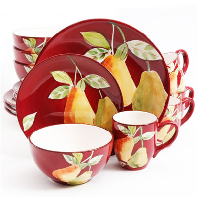 Gibson Home Fruitful Pears 16-pc. Dinnerware Set