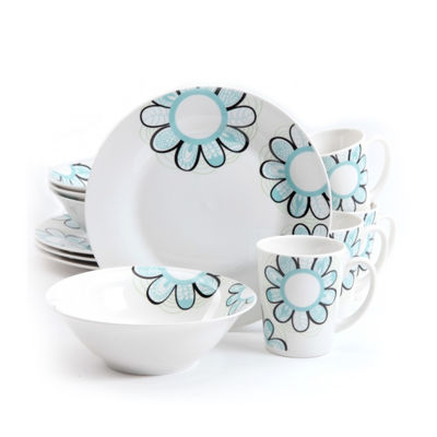 Gibson Home Lush Blossom 12-pc. Dinnerware Set