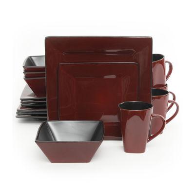 Gibson Kiesling 16-pc. Hard Square Dinnerware Set