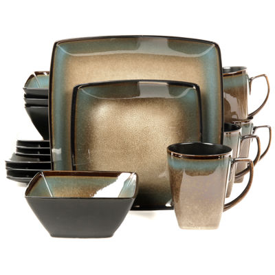 Gibson Tequesta 16-pc. Square Dinnerware Set