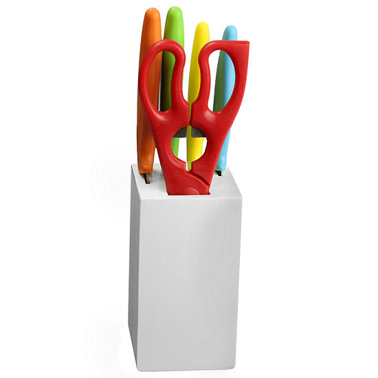 Gibson Colorsplash Primary Basics 6-pc. Preparation Cutlery Set
