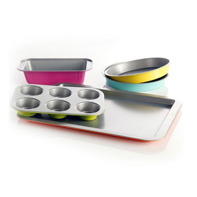 Gibson Home Color Splash Lyneham 5-pc. Carbon Steel Bakeware Set