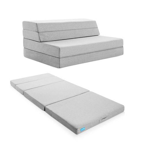 Lucid 4 Inch Folding Sofa with Gel Foam Layer