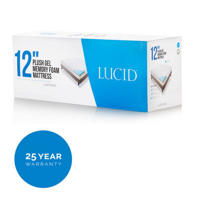 Lucid 12 Inch Triple-Layer Gel Foam Mattress
