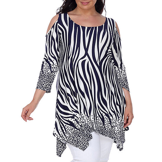 a56235c2b6d White Mark Antonia Womens Tunic Top-Plus - JCPenney