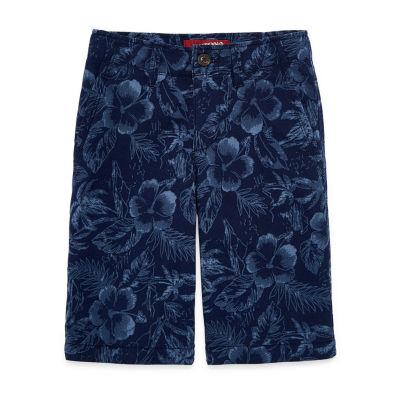 Arizona Flex Printed Chino Shorts Boys 4-20, Slim & Husky