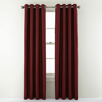Deals on JCPenney Home Plaza Grommet Top Lined Blackout Curtain Panel