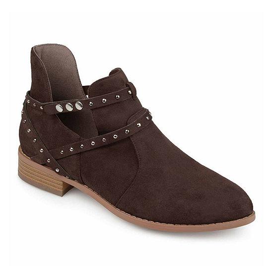 Journee Collection Womens Ozzi Booties Block Heel