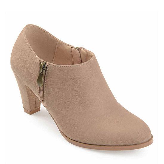 Journee Collection Womens Sanzi Booties Stacked Heel