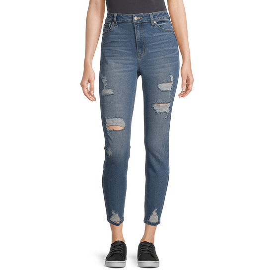 Blue Spice - Juniors Blue Spice Table Womens High Rise Skinny Fit Jean