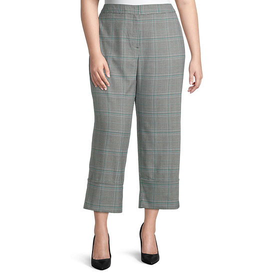 Worthington Womens High Cuff Trouser - Plus