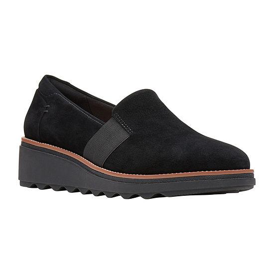 Clarks Womens Sharon Tori Slip-On Shoe-Wide Width