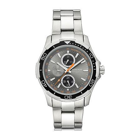 Armitron Mens Silver Tone Stainless Steel Bracelet Watch - 20/4677gysv, One Size
