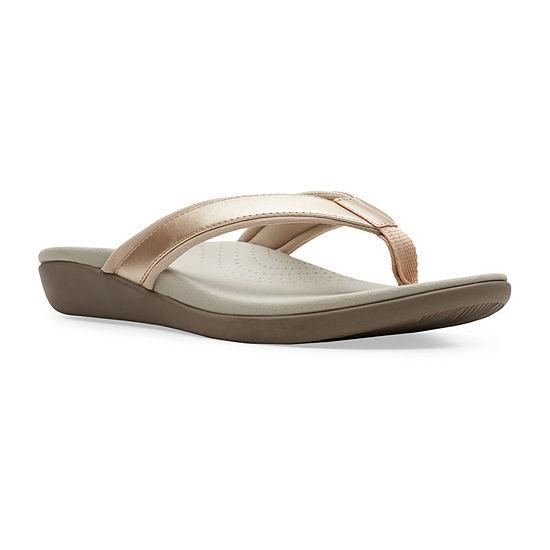 Clarks Womens Brio Sol Flip-Flops