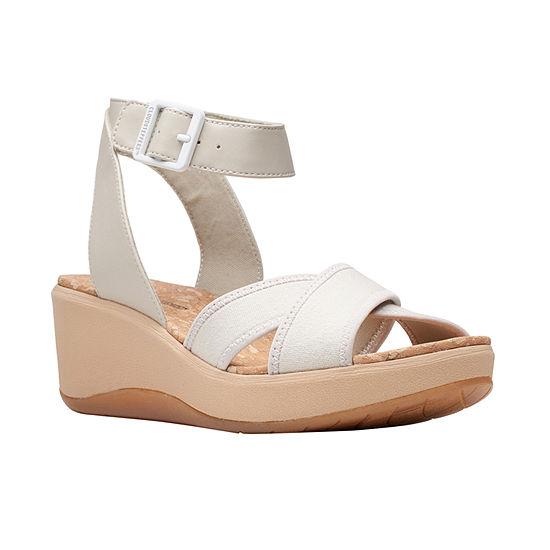 Clarks Womens Step Cali Coast Wedge Sandals