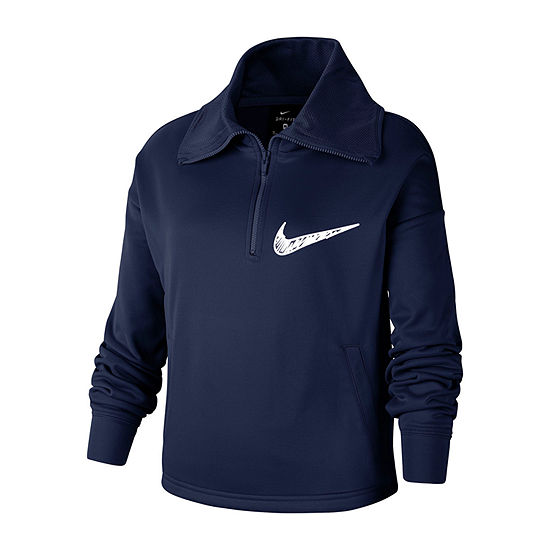 Nike Big Girls Long Sleeve Quarter-Zip Pullover