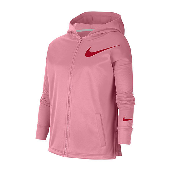 Nike Big Girls Fitted Sleeve Hoodie