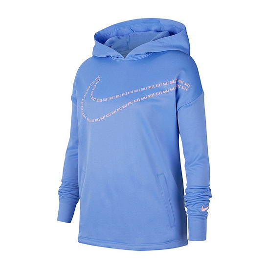 Nike Big Girls Fitted Sleeve Hoodie