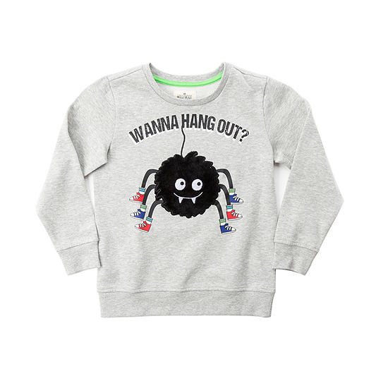 Hollywood Little Boys Crew Neck Long Sleeve Sweatshirt