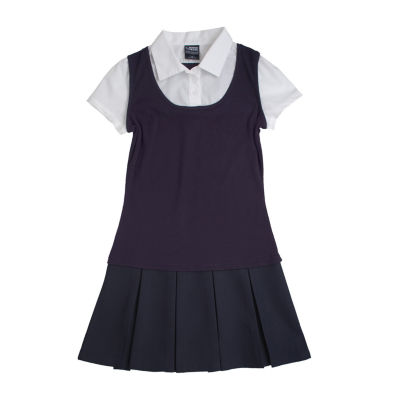 French Toast® 2-in-1 Pleated Dress - Girls 7-16