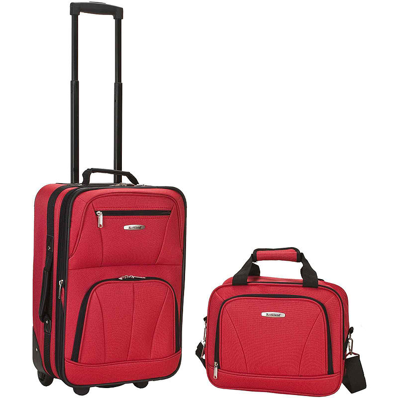 Rockland Rio 2-Pc. Luggage Set - Luggage Sets - Red - Red