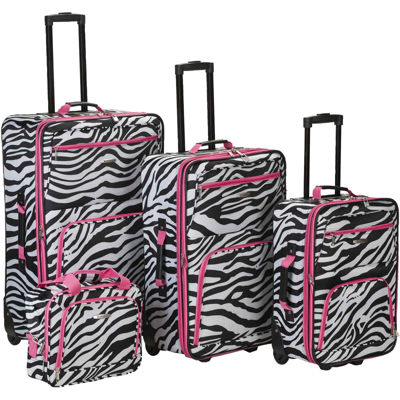Rockland Fashion 4-pc. Luggage Set-Animal Print