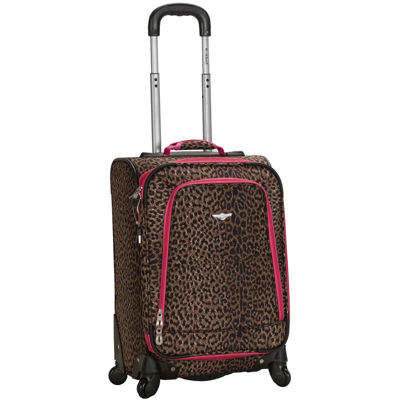 "Rockland Venice 20"" Carry-On Spinner Luggage-Animal Print"