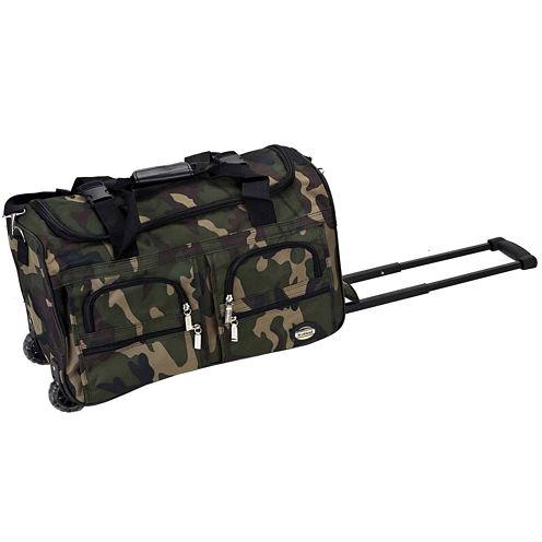 "Rockland 22"" Rolling Duffel Bag-Camo"