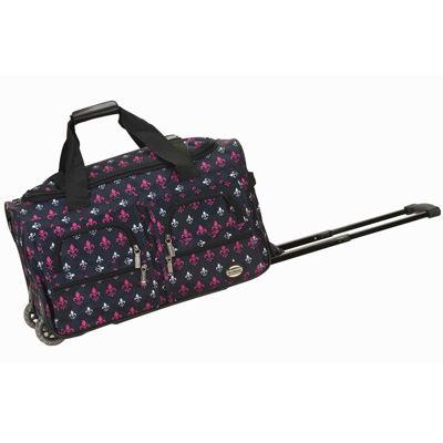 "Rockland 22"" Rolling Duffel Bag-Print"