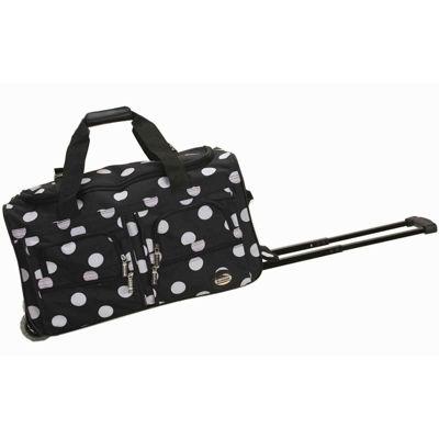 "Rockland 22"" Rolling Duffel Bag-Polka Dots"