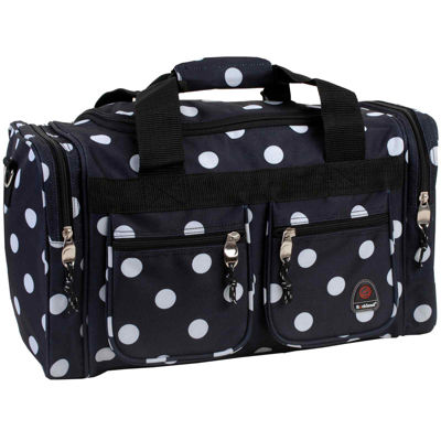 """Rockland 19"""" Freestyle Polka Dot Carry-On Duffle Bag"""