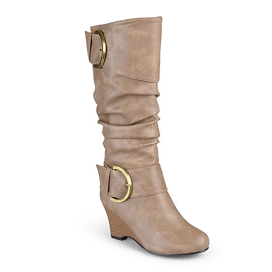 ad0dc056f8e40 Journee Collection Meme Wedge Boots - Wide Calf - JCPenney