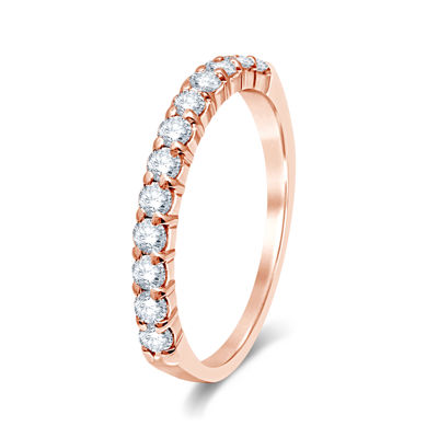 1/2 CT. T.W. Diamond 14K Rose Gold Wedding Band