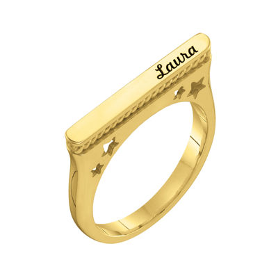 Personalized Star Name Ring