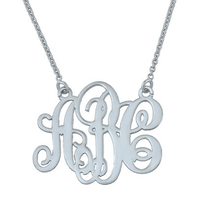 Personalized Swirl 20mm Monogram Necklace