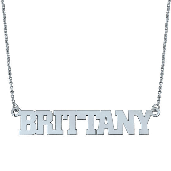Personalized Block Name Necklace