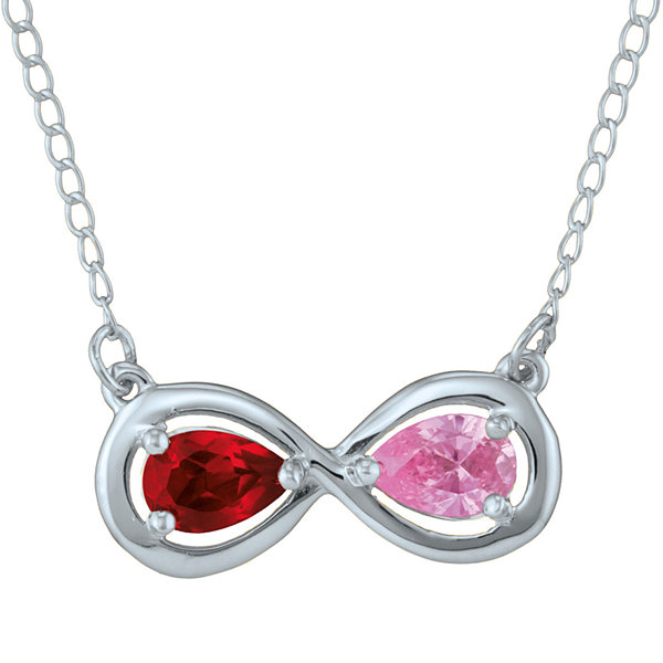 Personalized Infinity Symbol Birthstone Necklace