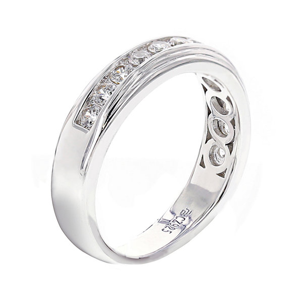 Jcpenney Gift Registry Wedding: DiamonArt® Mens Cubic Zirconia Sterling Silver Wedding