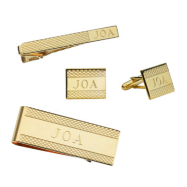 jcpenney.com | Personalized Cornwall Pattern Cuff Links, Tie Bar, or Money Clip