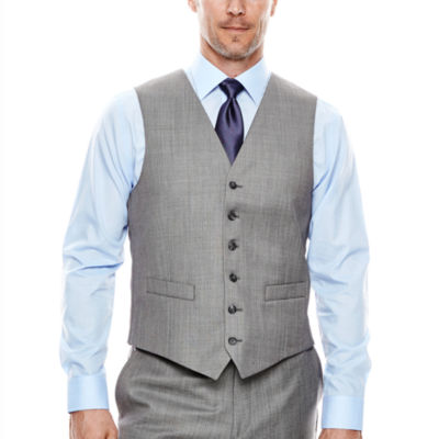 Stafford® Travel Gray Sharkskin Suit Vest - Classic Fit