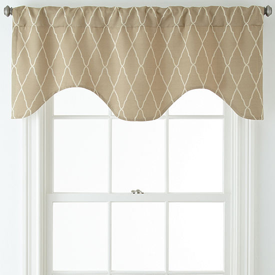 1c9695799a JCPenney Home™ Hamilton Rod-Pocket Back-Tab Scalloped Valance - JCPenney