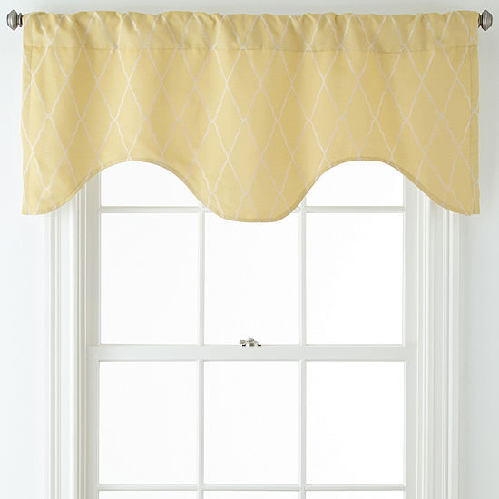 JCPenney Home™ Hamilton Rod-Pocket/Back-Tab Scalloped Valance