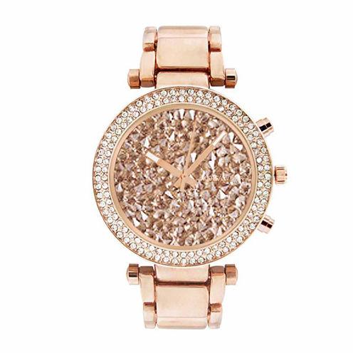 Rocawear Womens Rose Goldtone Bracelet Watch-Rl10639rg1-228