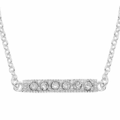itsy bitsy™ Crystal Sterling Silver Bar Pendant Necklace