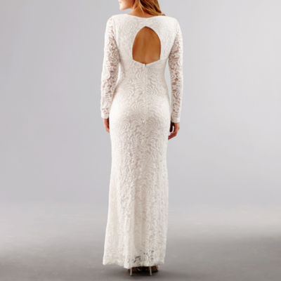 Blu Sage Long-Sleeve Lace Wedding Gown