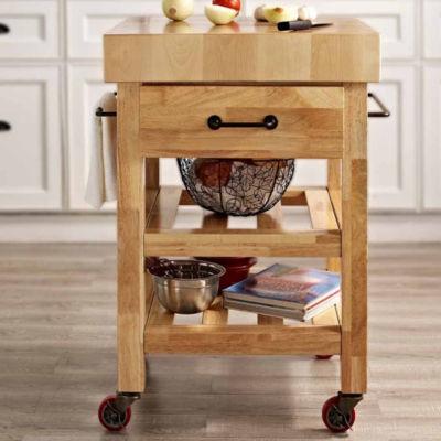 Butcher Block Kitchen Cart