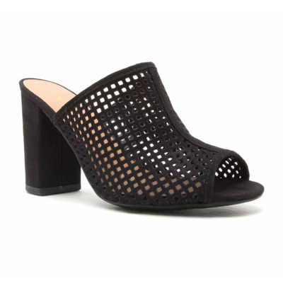 Qupid Chester 48 Perforated Mule Sandal
