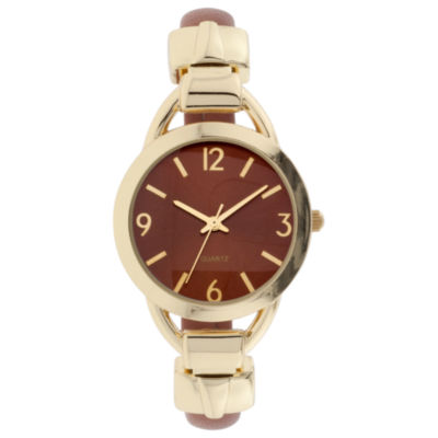 Mixit Womens Green Strap Watch-Jcp3007bg