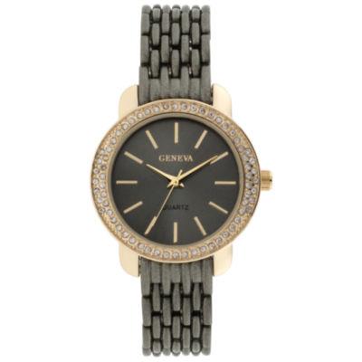 Geneva Womens Black Bracelet Watch-Jcp3006gg